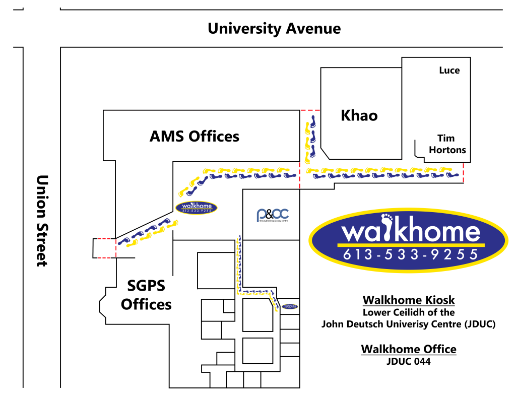 walkhome office map and walkhome kiosk map