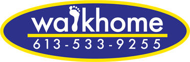 Walkhome Logo with phone number 613-533-9255